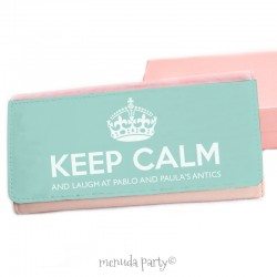 Cartera Keep calm mandarina
