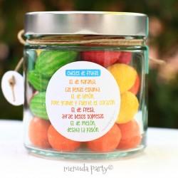 Tarro de chicles de frutas