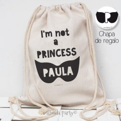 "Mochila ""NOT PRINCESS"""