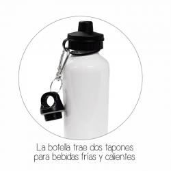 Botella stamp blanco y negro