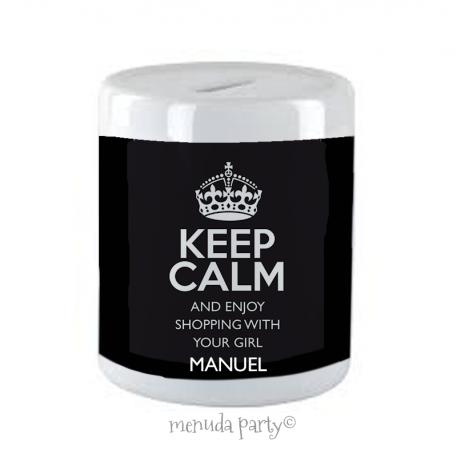 Hucha keep calm man