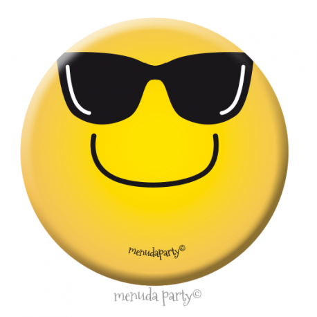 Chapa emoji gafas de sol