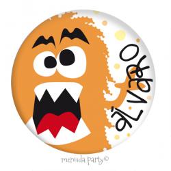 Chapa Mounstro Naranja personalizada