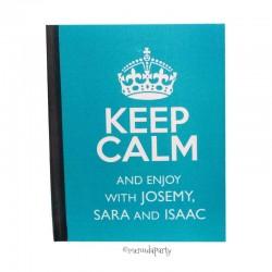 "Cuaderno ""Keep Calm"" turquesa"