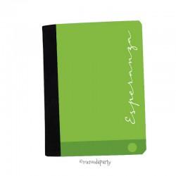"""Carpeta A5 """"Color"""" verde"""