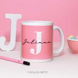Taza letra rosa