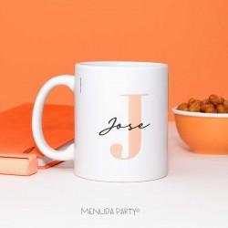 Taza letra naranja