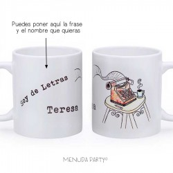 """Taza work """"soy de letras"""""""