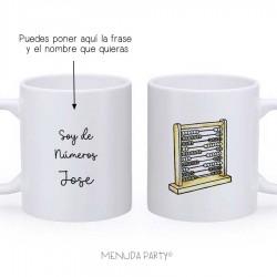 "Taza work ""soy de números"""