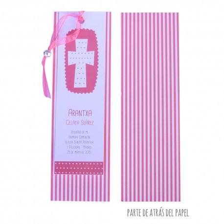 Rec. cruz estampado en rosa (paquete de 10 recordatorios)